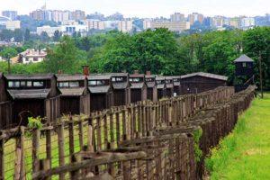 la città di Lublino vista dal campo di concentramento