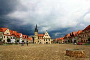 la piazza centrale di Bardejov