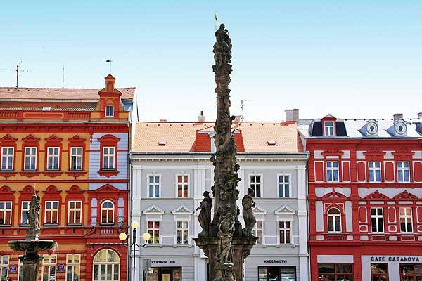 la piazza principale di Duchcov